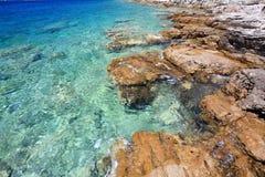Kroatien-Meerwasser Stockfotos