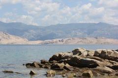 Kroatien - Pag Arkivfoton