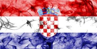 Kroatien röker flaggan som isoleras på en vit bakgrund Royaltyfri Foto