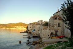Kroatien-Seeansicht Stockfotos