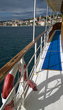 Kroatien som kryssar omkring längs Dalmatian kust Royaltyfria Foton