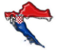 Kroatien-Tastenmarkierungsfahnen-Kartenform stock abbildung