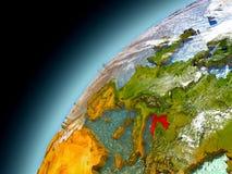 Kroatien von der Bahn von vorbildlichem Earth Stockfoto