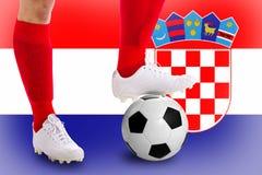 Kroatienfotbollspelare Arkivbild