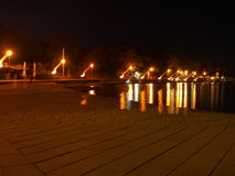 Kroatienstrand i natt Royaltyfria Foton