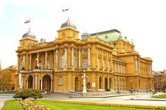 Kroatisch nationaal theater in Zagreb stock foto