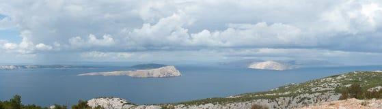Kroatisch panorama Stock Fotografie