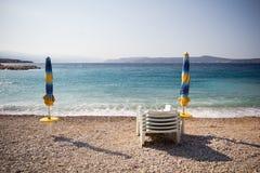 Kroatisch strand Royalty-vrije Stock Afbeeldingen