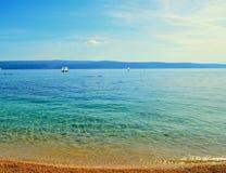 Kroatisch strand Royalty-vrije Stock Afbeelding