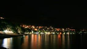 Kroatisch strand bij nacht Royalty-vrije Stock Foto's