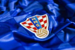 Kroatisch voetbal nationaal team Jersey Stock Foto's