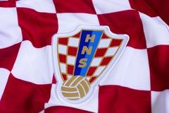 Kroatisch voetbal nationaal team Jersey Stock Foto
