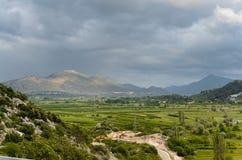 Kroatische berg en gebieden Stock Afbeeldingen