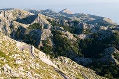 Kroatische bergketting Biokovo Royalty-vrije Stock Foto's