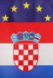 Kroatische & Europese Unie stock afbeeldingen