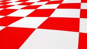 Kroatische Flagge der roten und weißen Quadrate stock footage