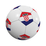 Kroatische Fußball-Kugel lizenzfreie abbildung