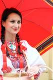 Kroatische hübsche Dame Stockfotos