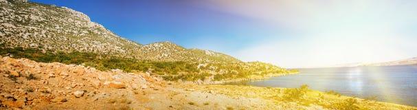 Kroatische Küste Lizenzfreies Stockfoto