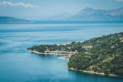 Kroatische Küstenlinie Lizenzfreie Stockfotografie