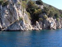 Kroatische Küstenlinie Stockbild