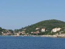 Kroatische kust royalty-vrije stock fotografie