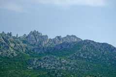 Kroatische kustbergen dichtbij Zadar Royalty-vrije Stock Afbeeldingen
