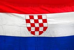 Kroatische Markierungsfahne Stockfotos