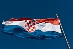 Kroatische Markierungsfahne Stockfoto