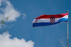 Kroatische Markierungsfahne Lizenzfreies Stockfoto
