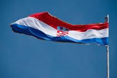 Kroatische Markierungsfahne Stockbild
