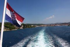 Kroatische Markierungsfahne Lizenzfreie Stockfotos