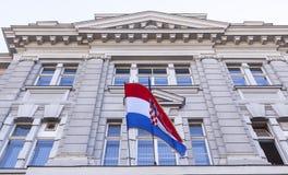 Kroatische Markierungsfahne Lizenzfreies Stockbild