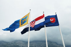 Kroatische Markierungsfahnen Lizenzfreie Stockfotos