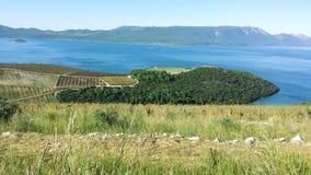 Kroatische Mediterrane kust Stock Afbeeldingen