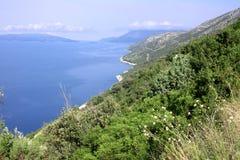 Kroatische Mittelmeerküste Lizenzfreies Stockfoto