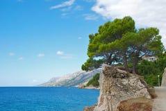 Kroatische Rücksortierung von Brela stockfotografie