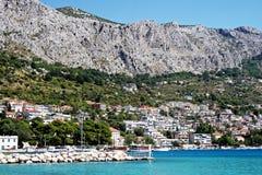 Kroatische Stadt Omis Stockfoto