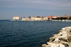 Kroatische Stadt Porec an der adratic Küste Stockbild