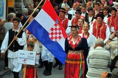 Kroatische Tanz-Gruppe Stockbilder