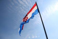 Kroatische vlag Royalty-vrije Stock Fotografie