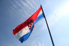 Kroatische vlag Royalty-vrije Stock Foto's
