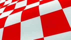 Kroatische wellenartig bewegende Flagge des roten und weißen Kontrollbrettes stockbilder