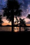 Kroatischer Sonnenuntergang lizenzfreie stockbilder