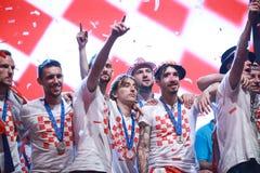 Kroatisches Fußballfane Endspiel lizenzfreie stockfotos