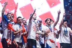 Kroatisches Fußballfane Endspiel lizenzfreie stockfotografie