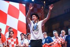 Kroatisches Fußballfane Endspiel stockbild