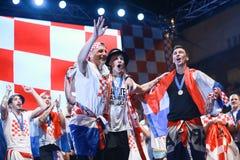 Kroatisches Fußballfane Endspiel lizenzfreies stockbild