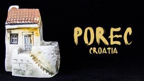 Kroatisches Haus, nationale Architektur stockfotografie