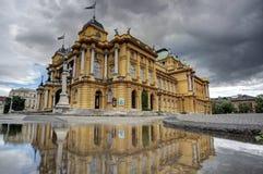 Kroatisches Nationaltheater stockfotografie